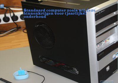 1. Binnenkomst PC voor onderhoud