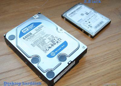 """2,5"""" en 3,5"""" harddisk (verschil van grootte)"""
