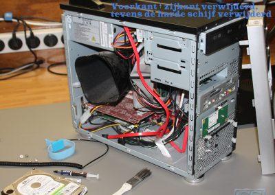 2. Verwijderen kap PC