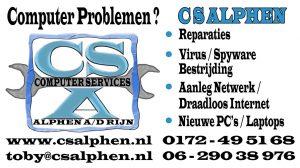 cs alphen reclame sticker voor de particuliere klant, maar ook de klein zakelijke klant